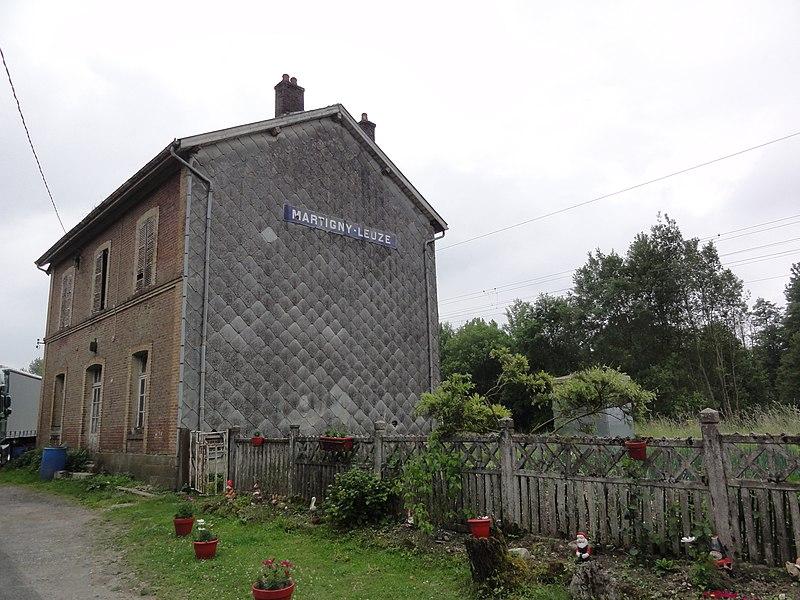 Martigny (Aisne) ancienne gare de Martigny-Leuze