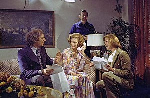 Ed. Weinberger - Ed. Weinberger (left) with First Lady Betty Ford and Mary Tyler Moore in 1975