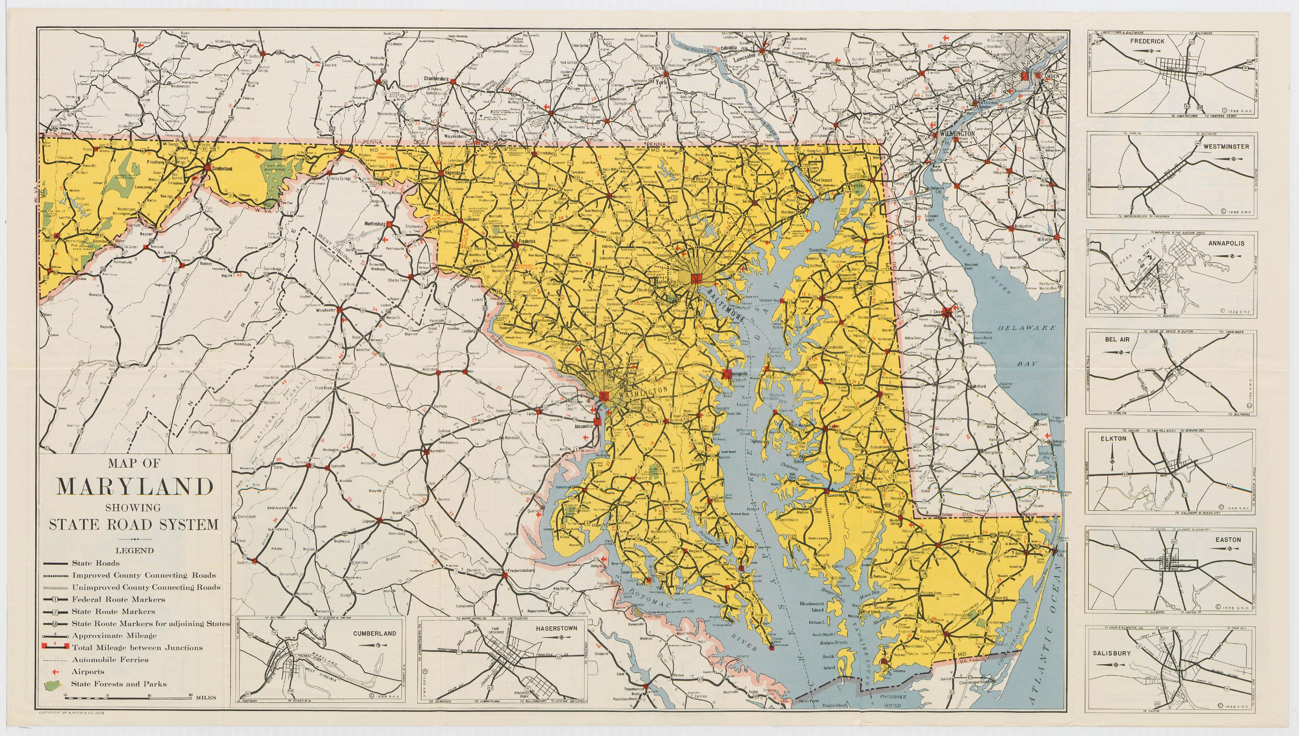 FileMaryland State Highway Map Pdf Wikimedia Commons - Road map of maryland