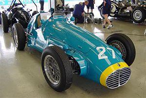 "Maserati A6GCM - Maserati A6GCM ""interim"" or A6SSG wearing the Siam racing colors, those of Prince Bira"