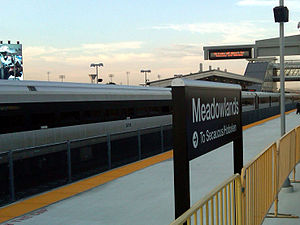 Meadowlands Rail Line - The rail line provides service to Secaucus Junction and Hoboken Terminal