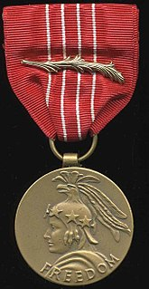 Medal of Freedom (1945) civil decoration awarded 1946–1961, superceded by Presidential Medal of Freedom