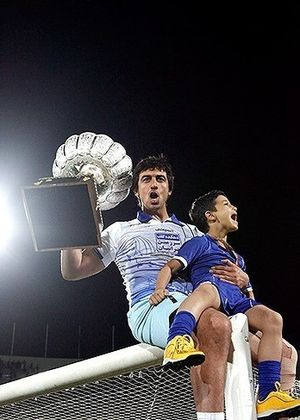 Mehdi Rahmati - Rahmati after winning the league with Esteghlal