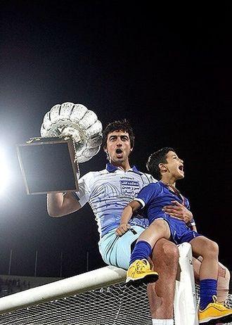 Mehdi Rahmati - Rahmati after winning the league with Esteghlal
