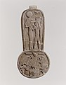 Menat of Taharqo- the King Being Nursed by the Lion-Headed Goddess Bastet MET EG123.jpg