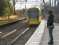 Metrolink Tram Approaching Trafford Bar, David Dixon, 3371036.jpg