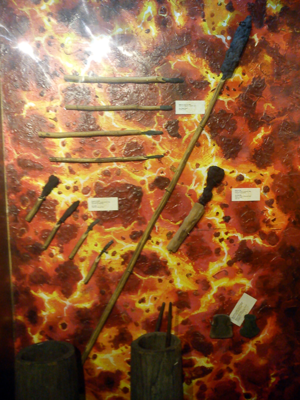 Sibat - Various ancient spears and knives at the National Museum of the Philippines