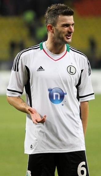 Michał Żewłakow - With Legia Warsaw in 2011