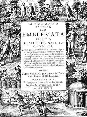 Atalanta Fugiens - Title page.