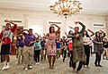 Michelle Obama joins students for a Bollywood Dance Clinic in White House.jpg