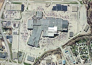Millcreek Mall - Aerial photo of the mall