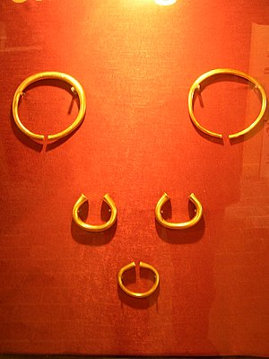 History of Buckinghamshire - Reproductions of the Milton Keynes Hoard of Bronze Age torcs and bracelets