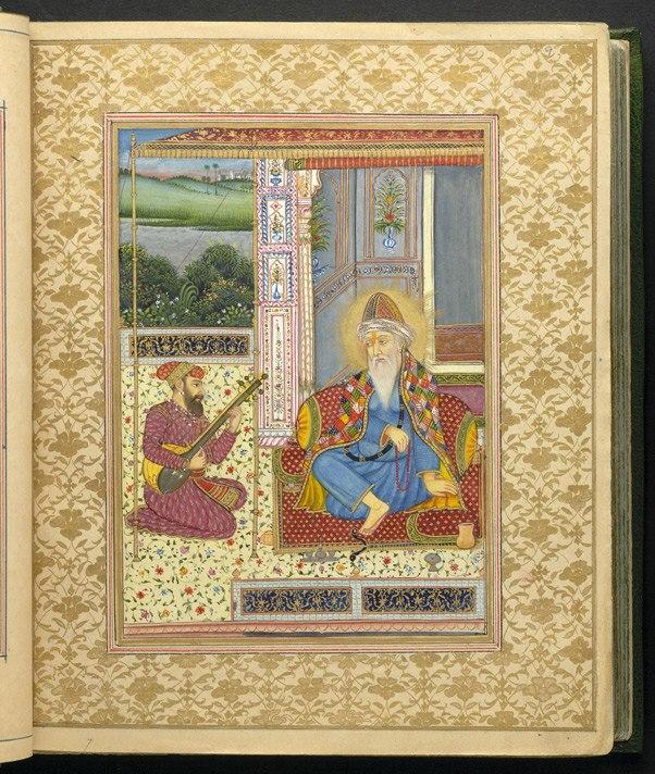 Miniature of Guru Nanak from Astronomical treatise