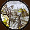Miriam is cursed with Leprosy, Netherlands, mid 1500s, stained glass - Museum Schnütgen - Cologne, Germany - DSC09840.jpg