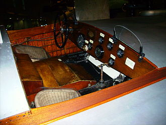Hubert Scott-Paine - Cockpit of Miss England at the Science Museum in London