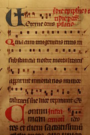 Excerpt from a 13-century Dominican missal (parchment manuscript)