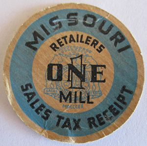 Mill (currency) - Missouri mill token