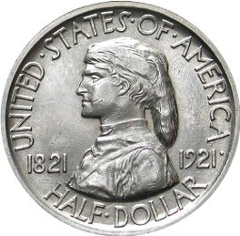 Missouri centennial half dollar commemorative obverse