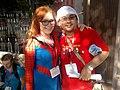 Misti Dawn poses with fan 2011.jpg