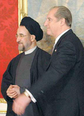 Mohammad Khatami and Thomas Klestil - Press Conference in Vienna -March 11, 2002.png