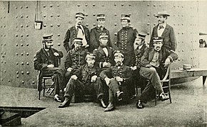 photo showing original Officers of Monitor in 1862