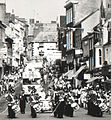 Monnow street in 1976 during the Monmouth Carnival.jpg