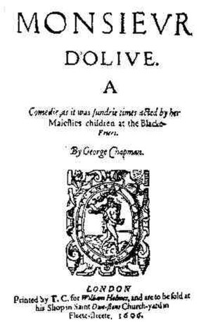 Monsieur D'Olive - Title page of Monsieur D'Olive (1606).