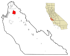 Monterey County California Incorporated and Unincorporated areas Salinas Highlighted.svg