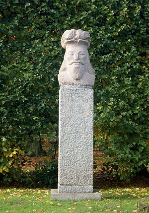 Mestwin II, Duke of Pomerania - Monument of Mestwin II at Adam Mickiewicz Park in Oliwa.