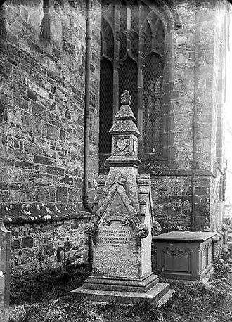 Ebenezer Thomas - Monument to Ebenezer Thomas, Clynnog, c.1885