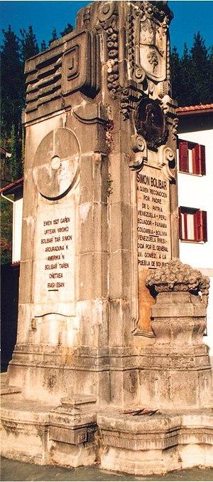 Ziortza-Bolibar - Monument to Simón Bolívar