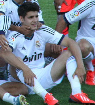 Álvaro Morata - Morata celebrates winning the 2013 Puskás Cup with Real Madrid Castilla