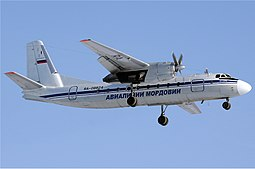 Mordovia Airlinesin An-24.