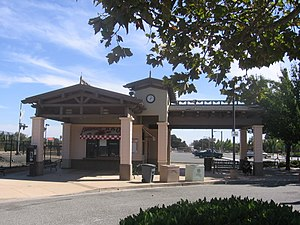 Morgan Hill station - The Morgan Hill Station building