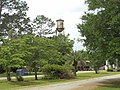Morven water tower from Main St, Brooks County.JPG