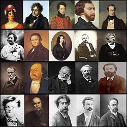 Notable 19th-century French literary figures.