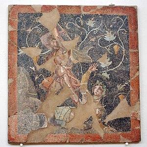 Mosaics of Delos - Image: Mosaic Lykourgos Ambrosia Delos Museum