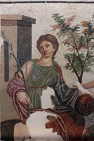 Expo 2015 pavilions - Mosaic on display in the Algerian pavilion