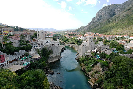 Mostar - Old Town Panorama.