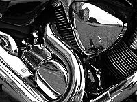 Motorcycle Reflections bw edit