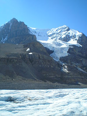 Mount Andromeda (Alberta) - Mt. Andromeda from the Athabasca Glacier