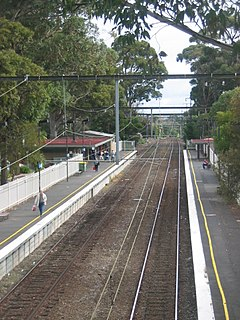 railway station in Mount Waverley, Melbourne, Victoria, Australia