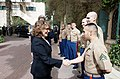 Mrs. Heinz Kerry Shakes Hands With Marine Security Guards.jpg