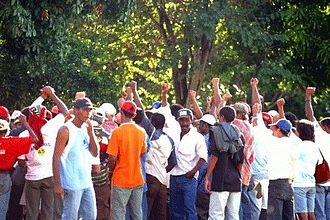 Landless Workers' Movement - MST supporters in Brazil.