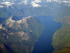 Jervis Inlet - Image: Mt FW Air