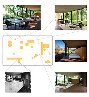 Casa de cristal wikipedia la enciclopedia libre for Johnson muebles