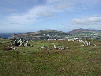 Mull Hill - Mull Circle on top of Mull Hill, looking towards Port Erin