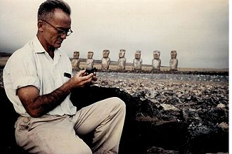 William Mulloy - Bill Mulloy at Ahu Akivi, 1961.