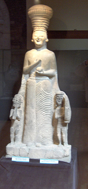 Agdistis - Phrygian statue of Kybele/Agdistis found on a post Hittite layer from the mid-6th century BCE at or near Hattusa.