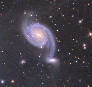NGC 7752 and NGC 7753 - NGC 7753 and 7752 (small, below)